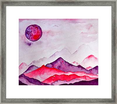 Amethyst Range Framed Print by Beverley Harper Tinsley
