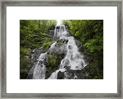 Amicalola Falls Framed Print by Debra and Dave Vanderlaan