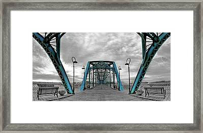 Amid The Bridge Framed Print by Steven Llorca
