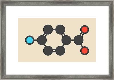 Aminobenzoic Acid Molecule Framed Print by Molekuul