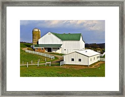 Amish Country Barn Framed Print by Frozen in Time Fine Art Photography