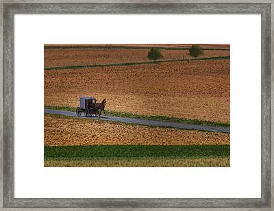 Amish Country Lancaster Pennsylvania Framed Print by Susan Candelario