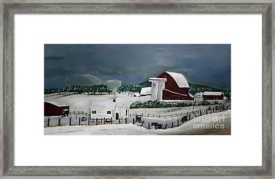 Amish Farm - Winter - Michigan Framed Print by Jan Dappen