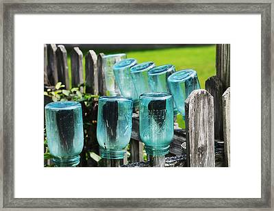 Amish Fence Framed Print by William Rockwell