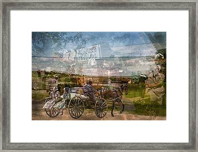 Amish Market Day Blur Framed Print by Randall Branham