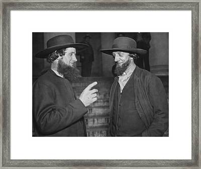 Amish Men Protest Pwa Grant Framed Print by Underwood Archives