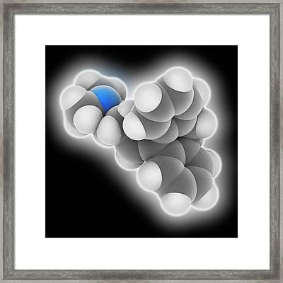 Amitriptyline Drug Molecule Framed Print by Laguna Design