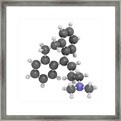 Amitryptiline Tricyclic Antidepressant Framed Print by Molekuul