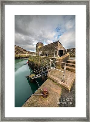 Amlwch Port Lighthouse Framed Print by Adrian Evans