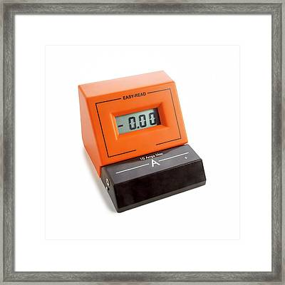 Ammeter Framed Print by Science Photo Library