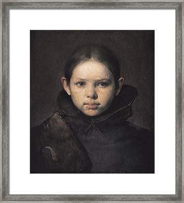 Amo Framed Print by Odd Nerdrum