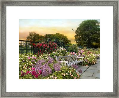 Among The Roses Framed Print by Jessica Jenney
