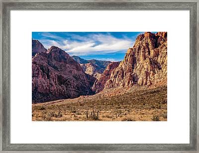 Amongst The Canyon Walls Framed Print by Matt Harvey