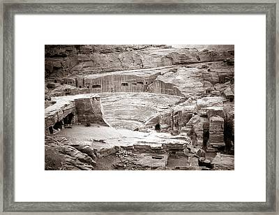 Amphitheater In Petra Framed Print by Alexey Stiop