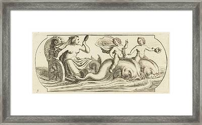 Amphitrite On A Chariot, Hendrik De Keyser Framed Print by Hendrik De Keyser (i) And Anonymous And Justus Danckerts