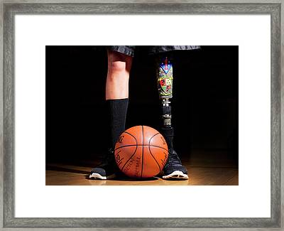 Amputee Basketball Athlete Framed Print by Us Air Force/mark Fayloga