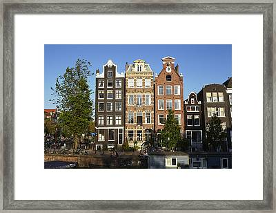 Amsterdam - Old Houses At The Herengracht Framed Print by Olaf Schulz