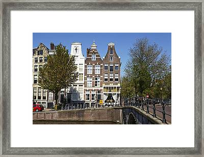 Amsterdam - Old Houses At The Keizersgracht Framed Print by Olaf Schulz