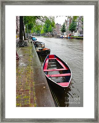 Amsterdam Boat - 02 Framed Print by Gregory Dyer