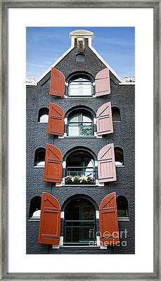Amsterdam Building Framed Print by Jane Rix