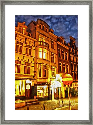 Amsterdam By Night - 01 Framed Print by Gregory Dyer