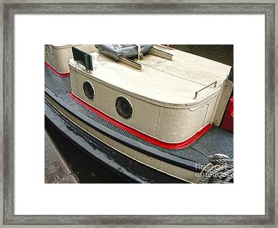 Amsterdam Canal Boat Framed Print by Gregory Dyer