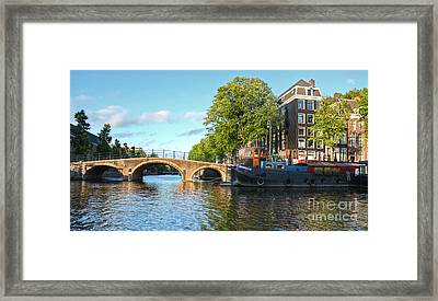 Amsterdam Canal Bridge Framed Print by Gregory Dyer