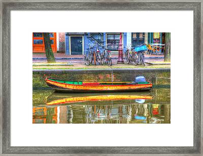 Amsterdam Canal Framed Print by Sophie Vigneault