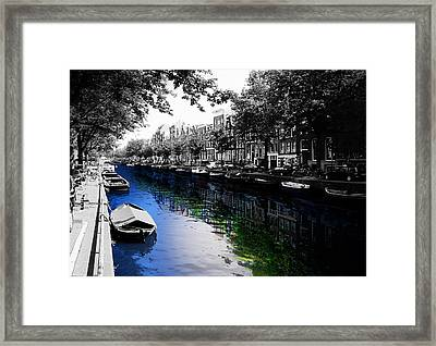 Amsterdam Colorsplash Framed Print by Nicklas Gustafsson