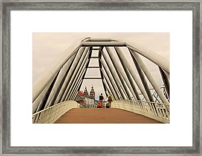 Amsterdam Good Bye Framed Print by Laura Ragland