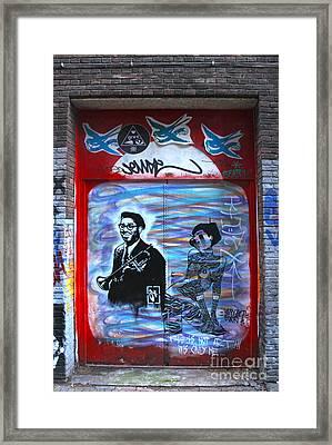 Amsterdam Jazz Graffiti Framed Print by Gregory Dyer