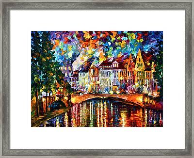 Amsterdam New Framed Print by Leonid Afremov