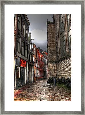 Amsterdam Red Light Framed Print by Sophie Vigneault