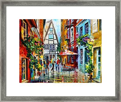 Amsterdam Street Framed Print by Leonid Afremov