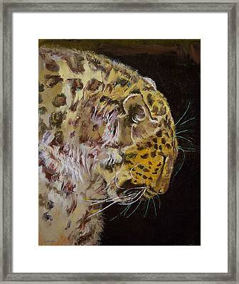 Amur Leopard Framed Print by Michael Creese