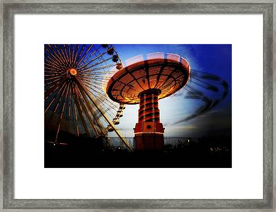 Amuse Me - Navy Pier In Chicago Framed Print by Mark E Tisdale