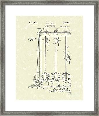 Amusement Device 1938 Patent Art Framed Print by Prior Art Design