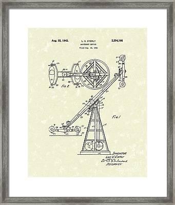 Amusement Device 1942 Patent Art Framed Print by Prior Art Design