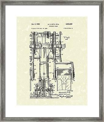 Amusement Ride 1962 Patent Art Framed Print by Prior Art Design