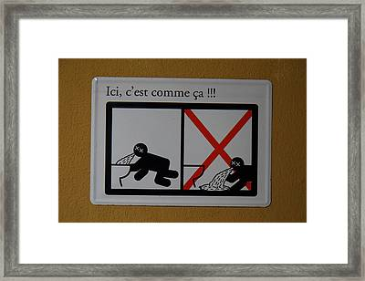 Amusing Sign - Piazza Palio - Khaoyai Thailand - 01131 Framed Print by DC Photographer
