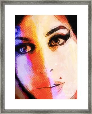 Amy Pop-art Framed Print by Lutz Baar