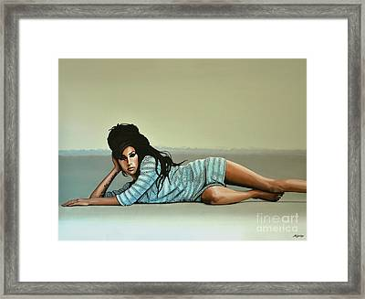 Amy Winehouse 2 Framed Print by Paul Meijering
