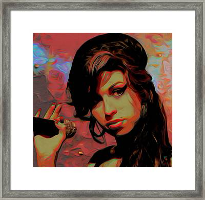 Amy Whinehouse Framed Print by  Fli Art