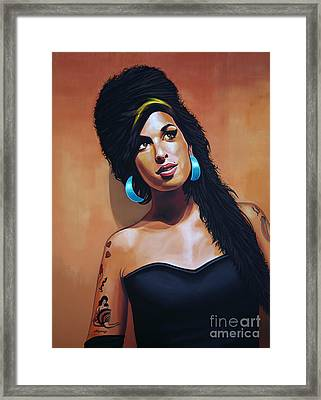 Amy Winehouse Framed Print by Paul Meijering