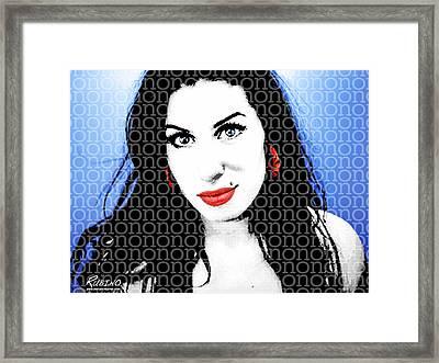 Amy Winehouse Framed Print by Tony Rubino
