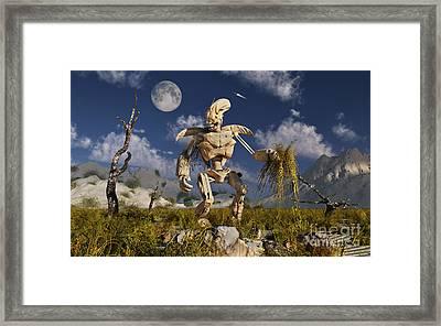 An Advanced Robot On An Exploration Framed Print by Stocktrek Images