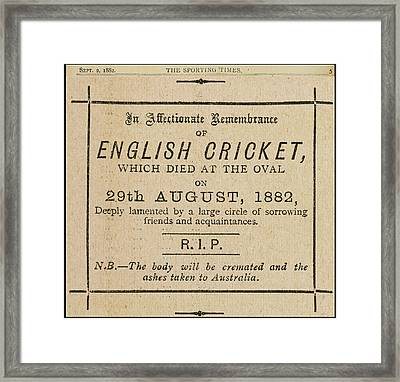 An Affectionate Remembrance Framed Print by British Library