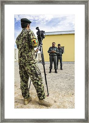 An Afghan National Army Public Affairs Framed Print by Stocktrek Images