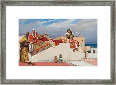 An Afternoon Idyll Framed Print by Jean Joseph Benjamin Constant