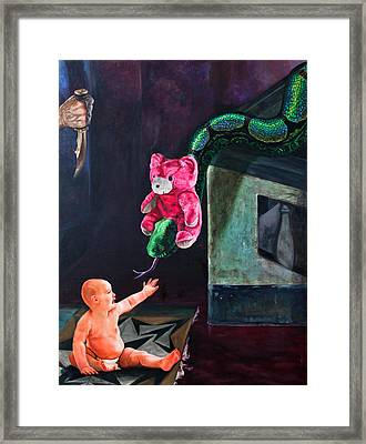 An Afternoon In Slitherville Framed Print by Sourav Bose